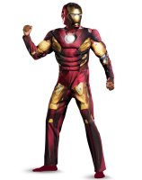 The Avengers Iron Man Mark VII Muscle Plus Adult Costume - XX-Large