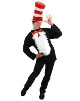 Dr. Seuss Cat In The Hat Adult Costume - Small/Medium