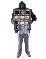 Gorilla Carrying Man in Cage Adult Costume