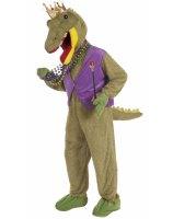 Mardi Gras Alligator King Adult Costume - Standard