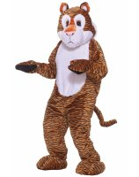 Tiger Deluxe Mascot Adult Costume - Standard