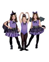 3-in-1 Witch - Dark Ballerina - Bat Child Costume