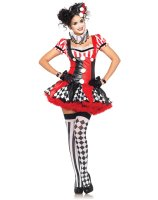 Harlequin Clown Adult Costume - Medium