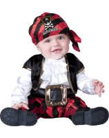 Cap'n Stinker Pirate Infant - Toddler Costume - 6-12 Months