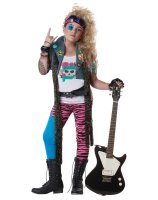 80's Glam Rocker Child Costume - Large (10-12)