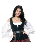 Black Corset Bodice Adult - Medium