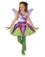 Purple Flower Fairy Child Costume - 8-10 MED