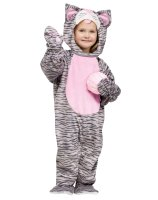Little Stripe Kitten Toddler Costume - 3T/4T