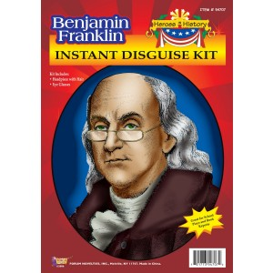 Heroes in History - Ben Franklin Accessory Kit - Black / One Size