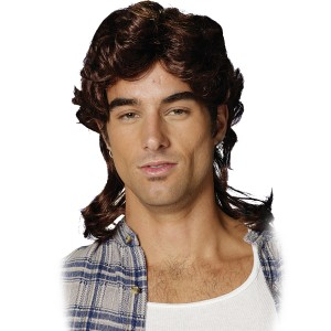 Mullet Brown Wig Adult - Brown / One Size