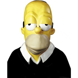 Homer Simpson Mask - Yellow / One Size