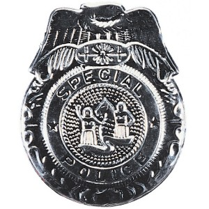 Badge Police Silver - Silver / One Size