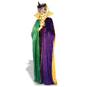 Mardi Gras Cape Adult - Green / One Size