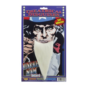 Uncle Sam Beard - White / One Size