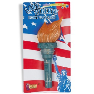 Light Up Liberty Torch - Green / One Size