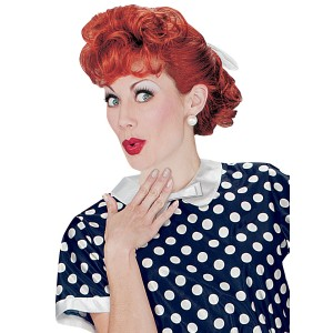 I Love Lucy Adult Wig - Red / One-Size