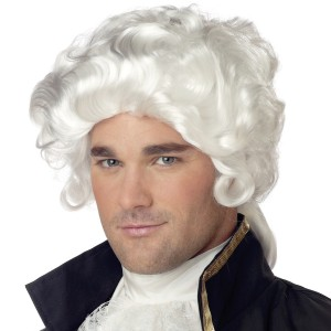 Colonial Man Economy Wig - White / One Size