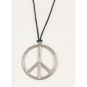 Peace Pendant Metal - Silver / One Size