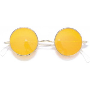 Feelin' Groovy Round Glasses - Silver / One Size