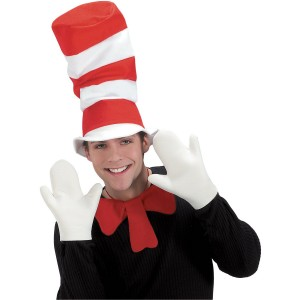 Dr. Seuss The Cat in the Hat Movie - The Cat in the Hat Mitts Adult - White / One Size