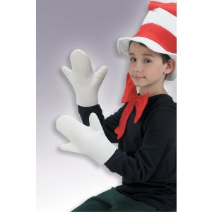 Dr. Seuss The Cat in the Hat Movie - The Cat in the Hat Mitts Child - White / One Size