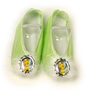 Disney Tinker Bell Ballet Slippers Child - Green / One-Size