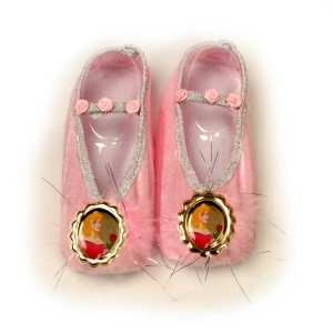 Disney Aurora Ballet Slippers Child - Pink / One-Size