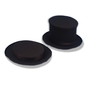Collapsible Top Hat Black Adult - Black / One Size