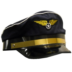 Airplane Pilot Adult Hat - Blue / One Size