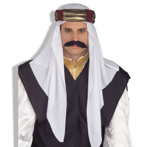 Arab Headpiece Deluxe - White / One Size