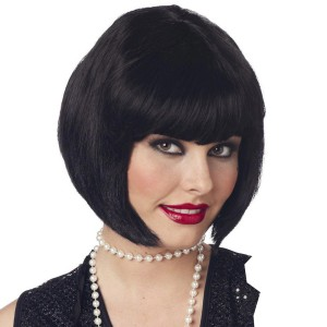 Flapper Wig Black - Black / One Size