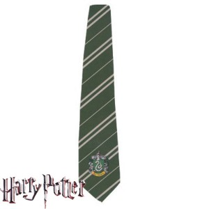 Harry Potter Slytherin Deluxe Tie - Gray / One Size