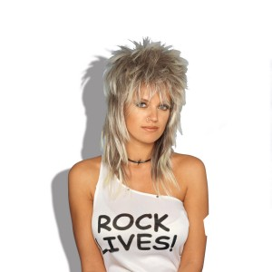 Rocker Wig Blonde Unisex Adult - Yellow / One Size