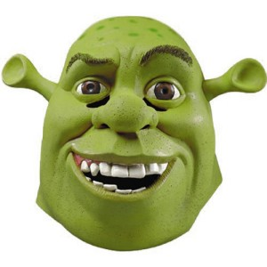 Shrek Deluxe Mask - Green / One Size