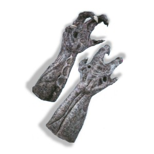 Alien Deluxe Latex Hands - Gray / One Size