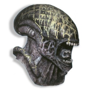 Alien Deluxe Adult Mask - Gray / One Size
