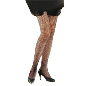 Black Fishnet Tights Plus - Black / One Size