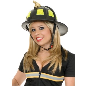 Black Fire Helmet - Black / One Size