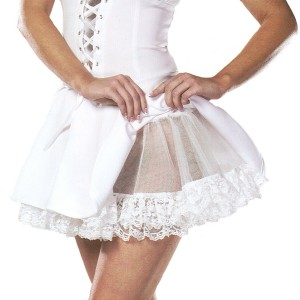 Lace White Petticoat Adult - White / One-Size