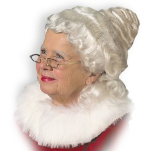 Mrs. Claus Wig Adult - White / One-Size