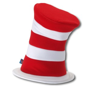 Dr. Seuss The Cat in the Hat - Deluxe Hat Adult - Red / One-Size