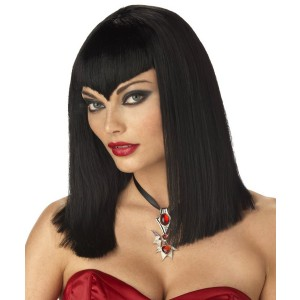 Vamp Wig Black Adult - Black / One Size