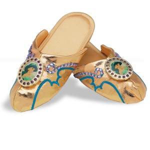 Disney Jasmine Slippers Child Deluxe - Gold / One Size