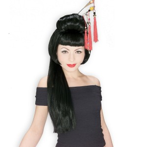 China Girl Adult Wig - Black / One Size
