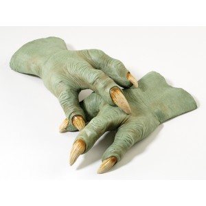 Star Wars Yoda Latex Hands - Green / One Size