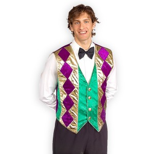 Mardi Gras Vest - Green / One-Size