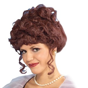 Victorian Lady Wig Adult - White / One Size