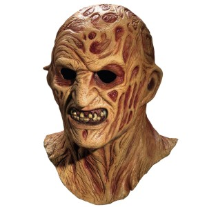 Deluxe Freddy Krueger Overhead Latex Mask - Tan / One Size
