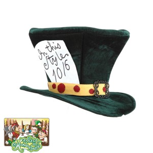 Alice In Wonderland - Classic Mad Hatter Hat - Green / One Size