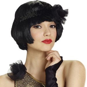 Flapper Flirt Wig Adult Black
